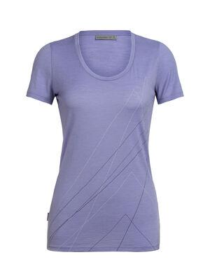 Tech Lite T-shirt Pinnacle met korte mouwen en lage ronde hals van merinowol