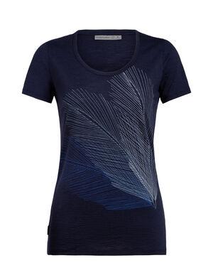 Merino Spector Short Sleeve Scoop Neck T-Shirt Plume