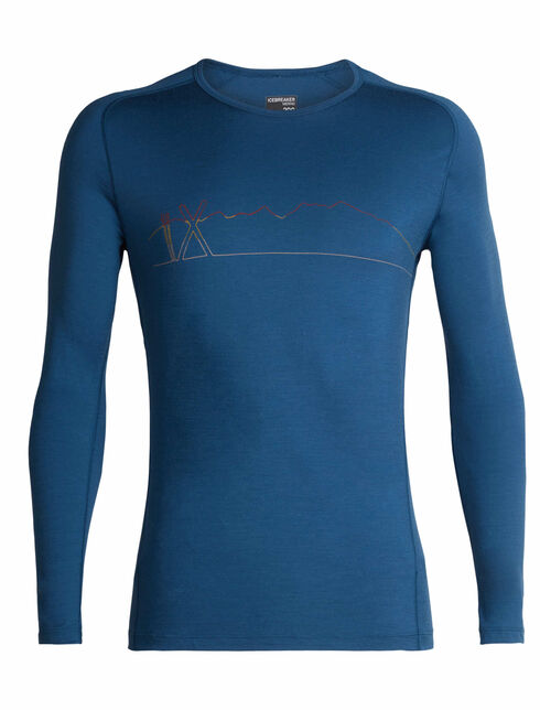 200 Oasis Deluxe Raglan Long Sleeve Crewe Single Line Ski