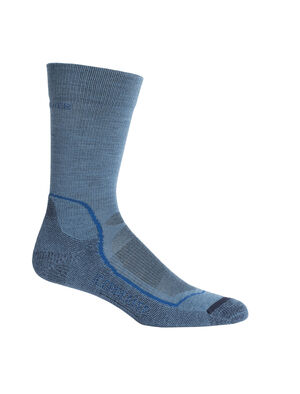 Mens Hike+ Light Crew Lightweight high-performance mens merino wool hiking socks with added stability and support, the Hike+ Light Crew  features a soft and durable merino blend.