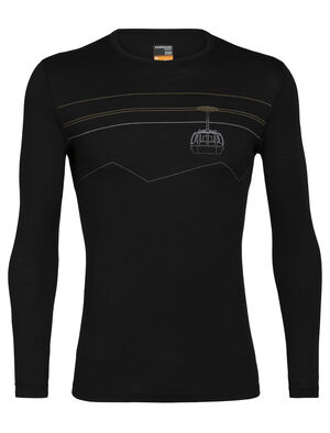 Mens Merino 200 Oasis Long Sleeve Crewe Thermal Top Peak to Peak Lift Our versatile, go-anywhere shirt made from breathable 100% merino wool jersey, the 200 Oasis Long Sleeve Crewe Peak to Peak Lift is our best-selling base layer top.