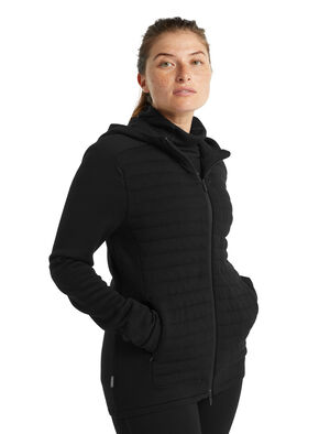 ZoneKnit™美丽诺羊毛保暖长袖拉链帽衫