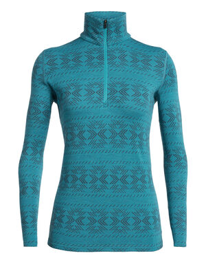 Womens 250 Vertex Long Sleeve Half Zip Crystalline A versatile top for cold conditions, the 250 Vertex Long Sleeve Half Zip Crystalline in 100% merino wool is naturally high-performing as a warm mid layer or heavyweight base layer.