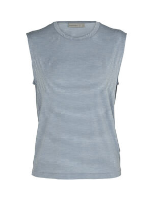 Cool-Lite™ Merino Utility Explore Sleeveless Crewe Stripe Tank Top