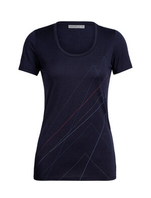 Merino Tech Lite kurzärmliges T-Shirt mit U-Ausschnitt Pinnacle