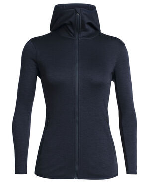 Womens Elemental Long Sleeve Zip Hood Ideal for cold-weather training, winter running or stormy resort skiing, the Elemental Long Sleeve Zip Hood is our go-to heavyweight performance mid layer.