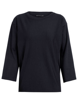 Womens 旅 TABI Micro-Terry laidback Long Sleeve Crewe A relaxed-fit women's merino wool fleece sweatshirt for travel and everyday style, the Micro-Terry laidback Long Sleeve Crewe is part of our 旅 TABI collection, a collaboration with Japanese apparel house GOLDWIN.