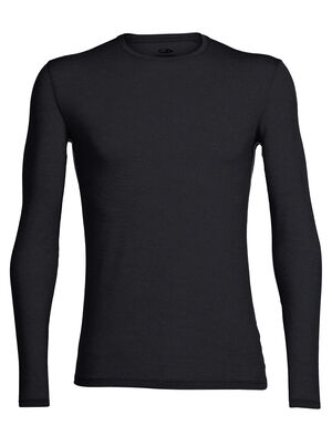 Mens Merino Anatomica Long Sleeve Crewe T-Shirt  A soft, stretchy base layer top for active layering and everyday comfort, the slim-fit Anatomica Long Sleeve Crewe features our ultralight 150gm merino wool corespun fabric.