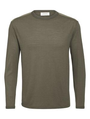 Merino Pique långärmad t-shirt med rund halsringning