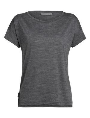 Damen Cool-Lite™ Merino Via kurzärmliges T-Shirt mit U-Ausschnitt Ein superbequemes Everyday-Damentop aus unserem cool-lite™ Merinojersey, das Via Scoop Short Sleeve hat eine legere Passform und tief geschnittene Fledermausärmel.
