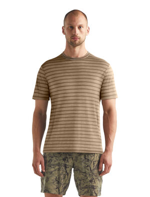Cool-Lite™美丽诺羊毛Utility Explore短袖圆领条纹T恤