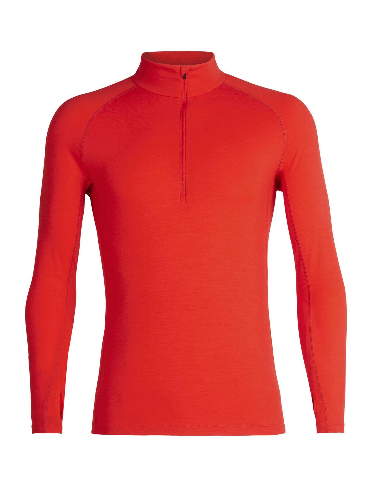 BodyfitZone™美丽诺羊毛200 Zone长袖保暖半拉链上衣