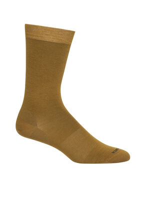 Mens Merino Lifestyle Fine Gauge Crew Socks Lightweight and soft for everyday comfort, the Lifestyle Fine Gauge Crew socks are made with luxurious, fine-gauge merino wool, with reinforced heels and toes.