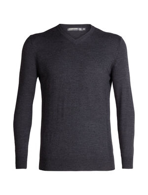 Mens Merino Shearer V Neck Sweater  A stylish knit V-neck designed for daily comfort, the Shearer V Sweater in 100% merino wool is breathable, odor-resistant and incredibly soft.