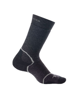 Womens Hike+ Medium Crew Durable, medium cushioned crew-length women's merino wool socks that are stretchy, breathable and odor-resistant, the Hike+ Medium Crew socks feature an anatomical sculpted design for day hikes and backpacking trips.