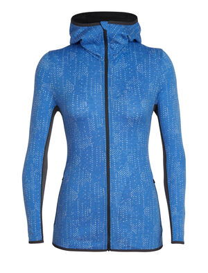 Womens Away Long Sleeve Zip Hood Showers A technical 100% merino wool women's top for active mountain pursuits, the Away Long Sleeve Zip Hood Showers provides the breathable, odor-resistant, and soft benefits of merino in a slim-fit design.