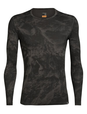 Mens Nature Dye Merino 200 Oasis Long Sleeve Crewe Thermal Top Glacier Our award-winning base layer shirt made from 100% merino wool, the Nature Dye 200 Oasis Long Sleeve Crewe Anniversary IB Glacier is dyed with natural plant pigments.