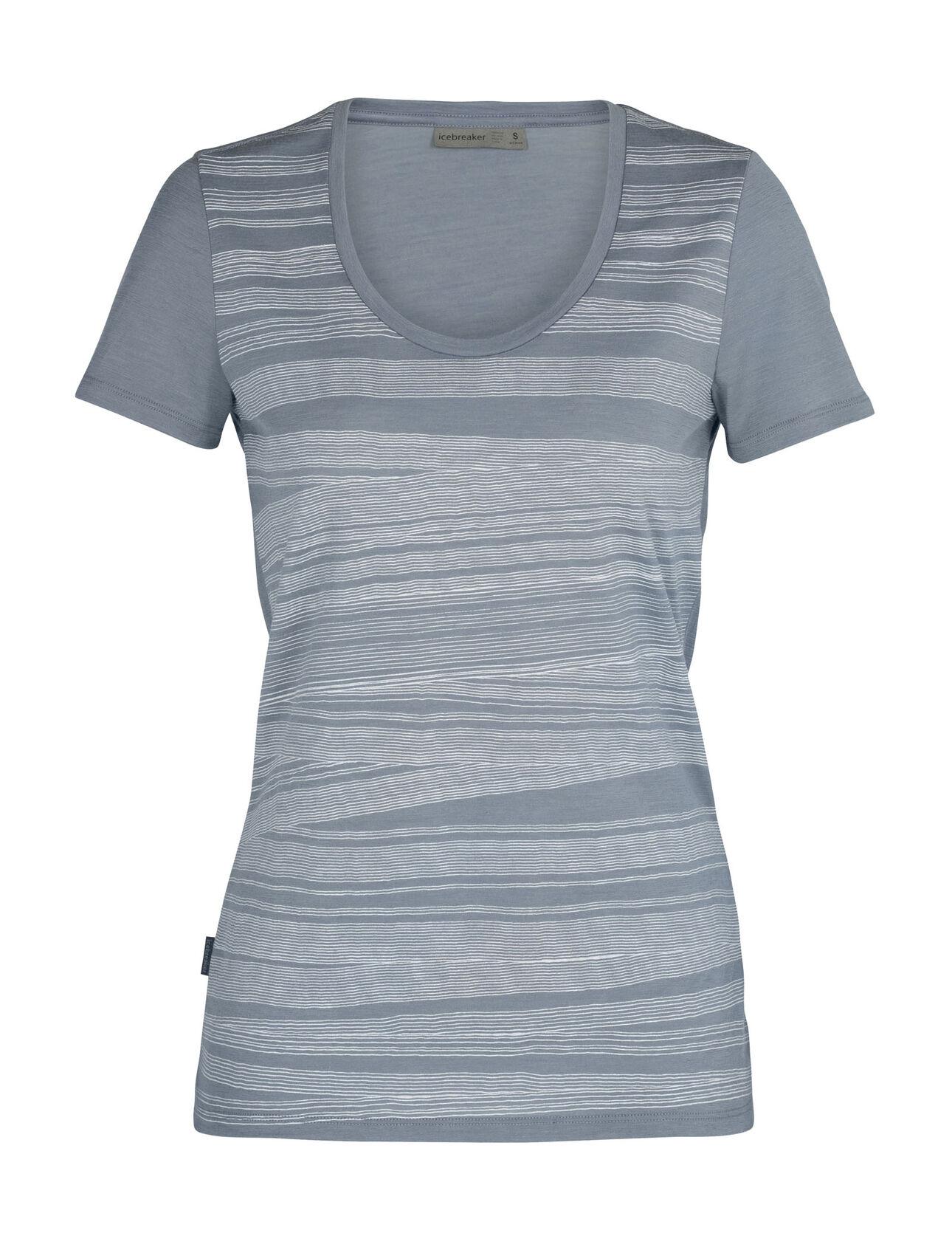 T-shirt manches courtes encolure dégagée mérinos Tech Lite 1000 Lines