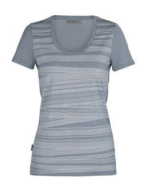 Merino Tech Lite kurzärmliges T-Shirt mit U-Ausschnitt 1000 Lines