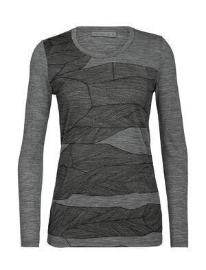 Tech Lite långärmad t-shirt Melt Layers med halvdjup halsringning