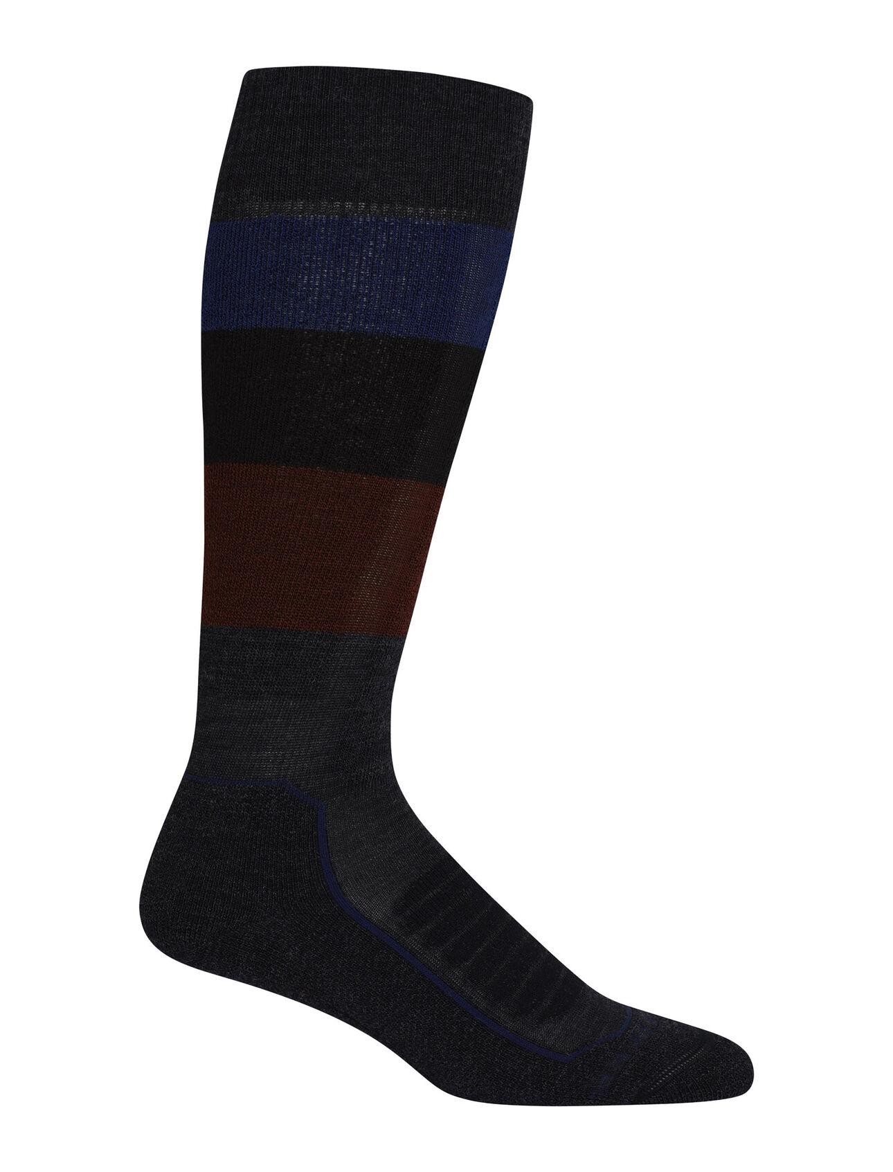 Merino Ski+ Medium Over the Calf Wide Stripe Socks