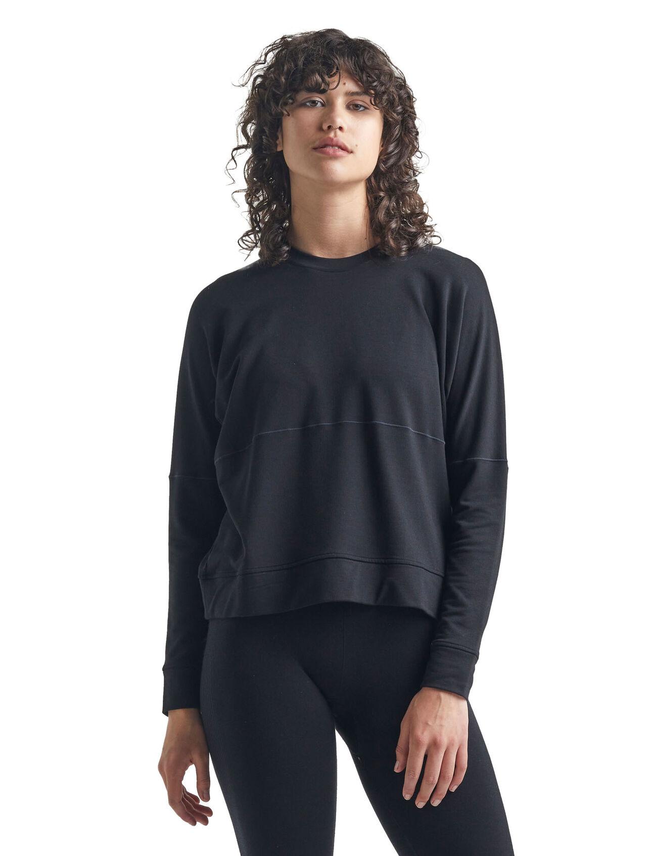 Cool-Lite™美丽诺羊毛Momentum长袖圆领运动衫