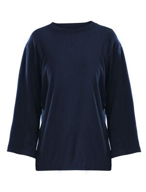 女款 美丽诺羊毛Micro-Terry休闲长袖圆领T恤 Micro-Terry休闲长袖圆领上衣来自旅 TABI系列,是一款宽松剪裁的女款美丽诺羊毛抓绒运动衫,适合旅行和日常穿着,由我们与日本服装公司GOLDWIN合作制作。