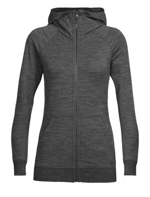 Womens Crush Long Sleeve Zip Hood A cozy, super-soft merino wool women's hoody featuring our corespun fabric, the Crush Long Sleeve Zip Hood is the ultimate in before and after comfort.