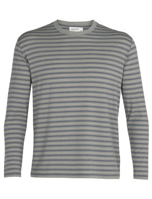Mens Merino 150 Long Sleeve Crewe Stripe T-Shirt With striped style and a versatile go-anywhere fit, the 150 Long Sleeve Crewe Stripe is a classic men's T-shirt made with our soft and durable jersey corespun fabric.