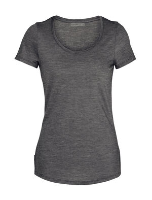 Womens Cool-Lite™ Merino Sphere Short Sleeve Scoop Neck T-Shirt A super-soft merino T-shirt with modern style and a low scoop-neck design, the Sphere Short Sleeve Scoop is a light and comfortable summer staple made with our Cool-Lite™ jersey fabric.