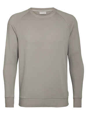 Mens Merino Nature Dye Helliers Long Sleeve Crewe Sweatshirt A classic daily pullover sweatshirt made with our merino wool RealFleece® fabric, the Nature Dye Helliers Long Sleeve Crewe is dyed with natural plant pigments.