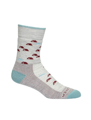 Womens Merino Hike Medium Crew Socks Camping Outdoors Lightweight, durable and odor-resistant trail socks designed for maximum comfort and premium fit, our Hike Medium Crew Camping Outdoors socks are ideal for rugged day hikes and year-round conditions.