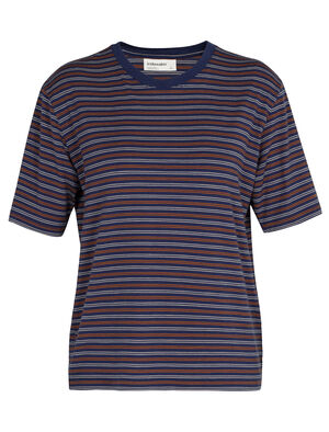 Merino 150 Short Sleeve Crewe Stripe T-Shirt