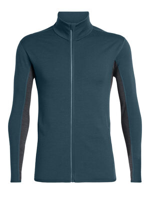 Mens Merino Delta Long Sleeve Zip Jacket A technical midweight running jacket made with merino wool jersey fabric for breathable warmth, the Delta Long Sleeve Zip offers cool-weather performance with added stretch for comfort and mobility.