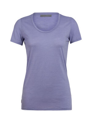 Womens Spector Short Sleeve Scoop A classic women's scoop-neck T-shirt with a soft jersey blend of merino wool and nylon, the Spector Short Sleeve Scoop features a regular fit and offset shoulder seams.