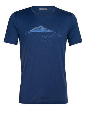Mens Tech Lite Short Sleeve Crewe Whitecap Whale Our most versatile tech tee, in breathable, odour-resistant merino wool. Artist Damon Watters distorts proportions and reality in this icy tale from our whimsical animal series.