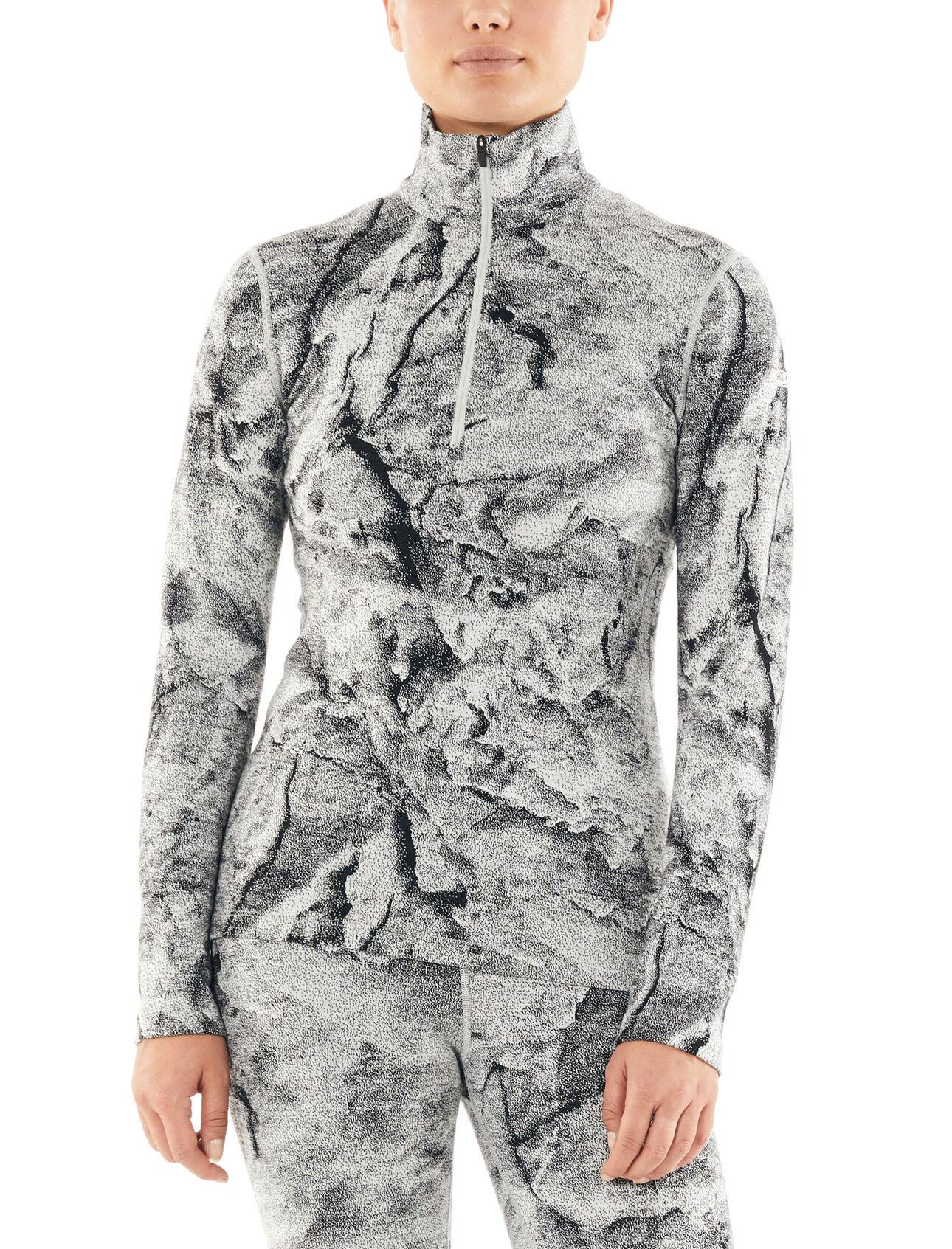 Icebreaker Wmns 250 Vertex LS Half Zip Crystalline Camiseta Manga Larga Mujer