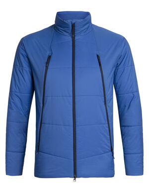 Mens Merino Hyperia Zoned Jacket A toasty and technical jacket that provides lightweight warmth and packability for climbing, skiing and other mountain adventures, the Hyperia Zoned Jacket is an alpine essential with a flattering fit that is made with our MerinoLOFT™ insulation under a shell that sheds wind and light precipitation.
