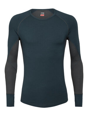 Mens BodyfitZone™ Merino 260 Zone Long Sleeve Crewe Thermal Top Our technical, cold-weather base layer top for highly aerobic days, the 260 Zone Long Sleeve Crewe features zoned ventilation panels for active temperature regulation and ample breathability.