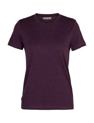 T-shirt manches courtes col rond mérinos Dowlas Stripe