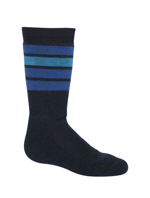 Merino Ski Medium Over the Calf Stripe Socks