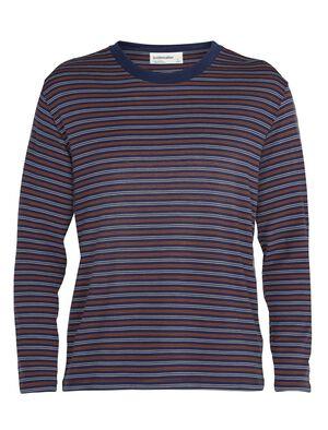Merino 150 langärmliges T-Shirt mit Rundhalsausschnitt Stripe