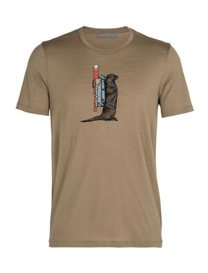 Mens Merino Tech Lite Short Sleeve Crewe T-Shirt Otter Paddle Our most versatile merino tech tee, the Tech Lite Short Sleeve Crewe Otter Paddle is stretchy, highly breathable, and odor-resistant, with original graphic artwork by Damon Watters that pays tribute to the original and ultimate river rat.
