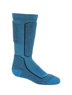 Kids Merino Ski+ Medium Over the Calf Socks Stretchy and supportive merino socks for technical performance on snow, our fully cushioned Ski+ Medium Over the Calf socks are durable, breathable, and comfortable, with anatomical support in key areas.