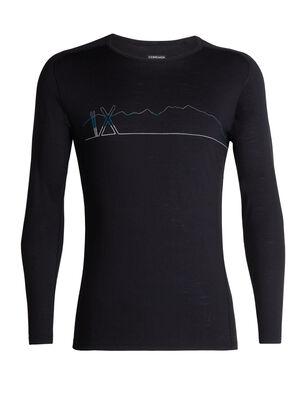 200 Oasis高级插肩长袖圆领上衣(Single Line Ski)