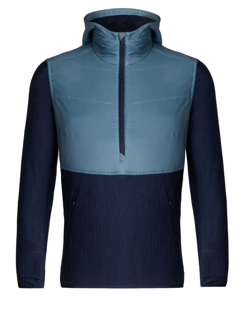 MerinoLOFT™ Descender Hybrid长袖带帽半拉链外套