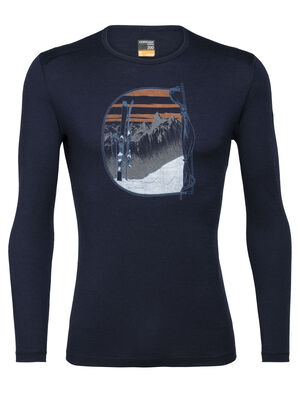 Merino 200 Oasis Long Sleeve Crewe Thermal Top Mt Blanc Rise