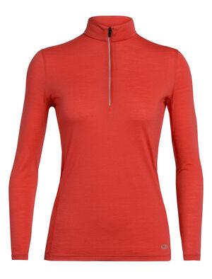 Cool-Lite™美丽诺羊毛Amplify长袖半拉链上衣