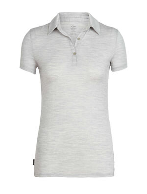 Womens Merino Tech Lite Short Sleeve Polo Top  A lightweight merino wool polo ideal for hiking, biking, travel and everything in between, the Tech Lite Short Sleeve Polo features our highly breathable and durable corespun fabric.