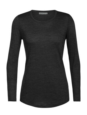 Womens Cool-Lite™ Merino Sphere Long Sleeve Low Crewe T-Shirt  An ultralight T-shirt for warm-weather travels and everyday comfort, the Sphere Long Sleeve Low Crewe is made with our soft and durable 130gm Cool-Lite™ jersey fabric.